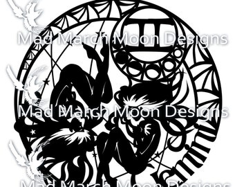 Gemini Papercut template, personal use only, pdf download