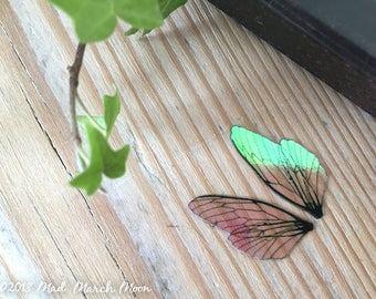 Tiny 'Micro' Fairy wing set, plain iridescent wings with upper and lower pairs Cicada Style for crafts, Nano wings, pixie wings