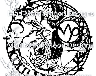 Capricorn Papercut commercial use TEMPLATE .PDF download