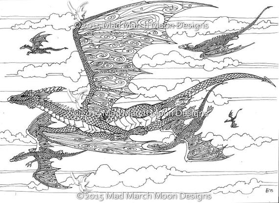 Colouring Pages 5 Dragon Themed Coloring Highly