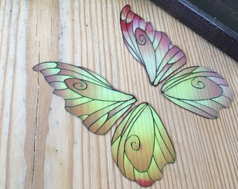 Medium 'Fantasy' Fairy wings for crafts, iridescent fairy wing pair, 3 colours available, purple, blue and pink Medium wings for crafting