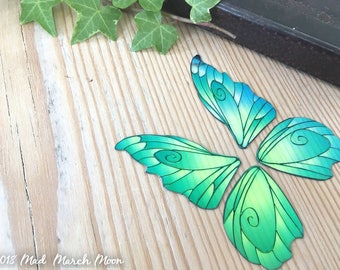 Mini 'Fantasy' Fairy wings for crafts, iridescent fairy wing pair, 3 colours available, purple, blue and pink small wings for crafting