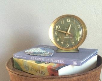 Vintage Mid Century Baby Ben alarm clock. Avacodo green westclox alarm clock