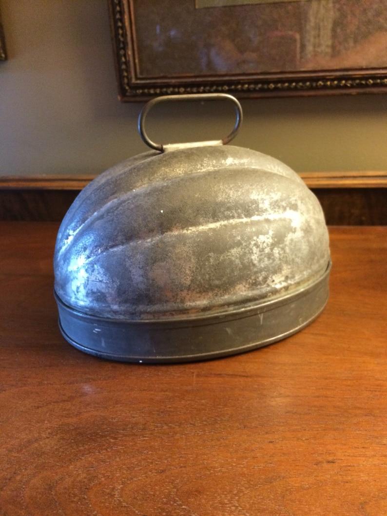 Vintage Pudding Mold ~ Metal Jello Mold ~ Oval Pudding Mold