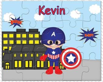 Captain America Personalized Puzzle, Personalized Captain America Puzzle, Personalized Kids Puzzle