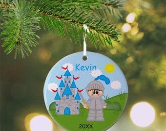 Knight Ornament - Personalized Knight Ornament, Knight Ornament, Kids Ornament, Christmas Tree Ornament