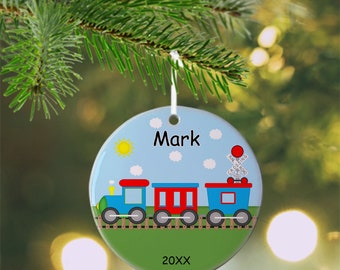 Train  Ornament - Personalized Train Ornament, Train Ornament, Kids Ornament, Christmas Tree Ornament