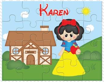 Princess Snow White Personalized Puzzle, Personalized Princess Snow White Puzzle, Personalized Kids Puzzle