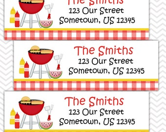 Back Yard Picnic - Personalized Address labels, Stickers