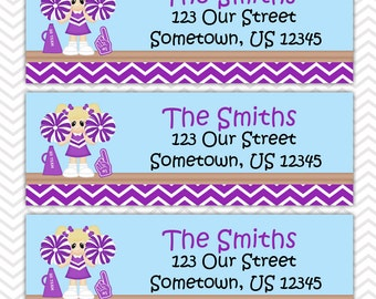Cheerleading  - Personalized Address labels, Stickers, Baby Shower, Birthday