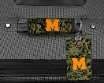 Luggage Tag, Monogram Bag Tag, Luggage Wrap, Luggage Tag, Personalized luggage tag, Personalized luggage wrap, Bag tag, Camo Luggage Wrap