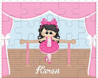 Ballerina Personalized Puzzle, Personalized Ballerina Puzzle, Personalized Kids Puzzle