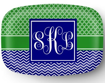 Personalized Platter, Monogram Platter, Custom Platter, Serving Platter, Hostess Wedding Gift Housewarming Tray Gifts for Mom