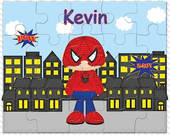 Spiderman Personalized Puzzle, Personalized Spiderman Puzzle, Personalized Kids Puzzle