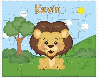 Lion Personalized Puzzle, Personalized Lion Puzzle, Personalized Kids Puzzle