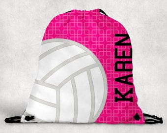 Personalized Drawstring Backpack - Volleyball Backpack - Volleyball Sports Bag - Personalized Kids Drawstring Bag
