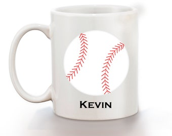 Baseball Personalized Kids Mug, Personalized Polymer Mug, Personalized Ceramic Mug, Custom Personalized Kids Mug