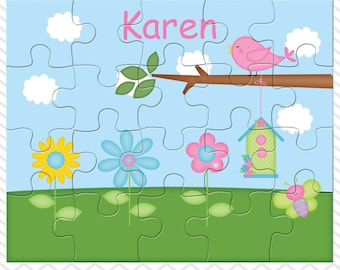 Flowers Personalized Puzzle, Personalized Flowers Puzzle, Personalized Kids Puzzle