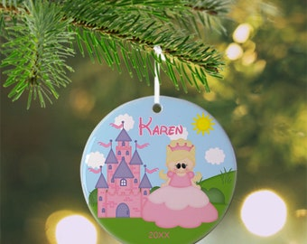Princess Ornament - Personalized Princess Ornament, Princess Ornament, Kids Ornament, Christmas Tree Ornament