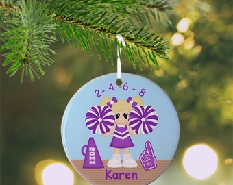 Cheer Ornament - Personalized Cheer Ornament, Sports Ornament, Kids Ornament, Christmas Tree Ornament