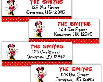 Minnie Mouse - Personalized Address labels, Stickers