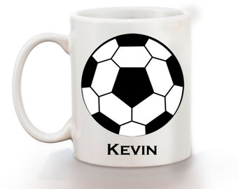 Soccer Personalized Kids Mug, Personalized Polymer Mug, Personalized Ceramic Mug, Custom Personalized Kids Mug