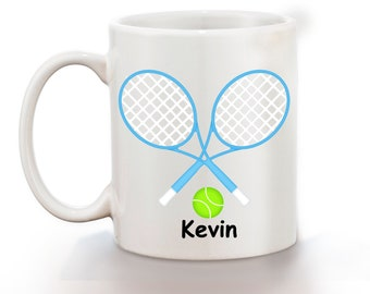 Tennis Personalized Kids Mug, Personalized Polymer Mug, Personalized Ceramic Mug, Custom Personalized Kids Mug
