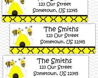 Bumble Bee - Personalized Address labels, Stickers