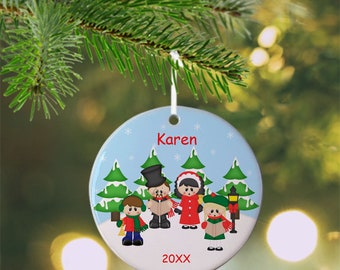 Christmas Carolers Ornament - Personalized Christmas  Carolers Ornament, Christmas Carolers Ornament, Kids Ornament, Christmas Tree Ornament