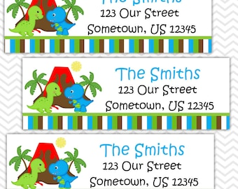 Dinosaur  - Personalized Address labels, Stickers, Baby Shower, Birthday