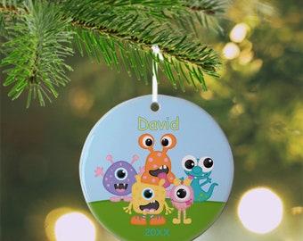 Monster Ornament - Personalized Monster Ornament, Monster Ornament, Kids Ornament, Christmas Tree Ornament