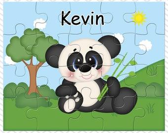 Panda Personalized Puzzle, Personalized Panda Puzzle, Personalized Kids Puzzle