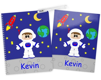 Astronaut Boy Space Folder Notebook Set - Personalized School Folder - Personalized Notebook - Folder with Name - Back to School