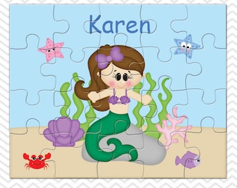 Under the Sea Princess Personalized Puzzle, Personalized Princess Puzzle, Personalized Kids Puzzle