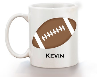 Football Personalized Kids Mug, Personalized Polymer Mug, Personalized Ceramic Mug, Custom Personalized Kids Mug