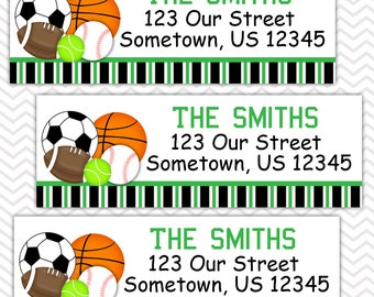 All Star Sports  - Personalized Address labels, Stickers