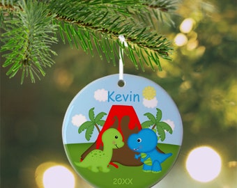 Dinosaur Ornament - Personalized Dinosaur Ornament, Dinosaur Ornament, Kids Ornament, Christmas Tree Ornament