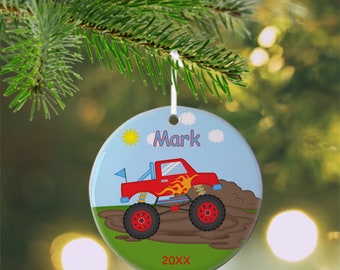 Monster Truck Ornament - Personalized Monster Truck Ornament, Monster Truck Ornament, Kids Ornament, Christmas Tree Ornament