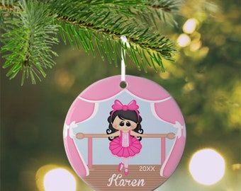 Ballerina Ornament - Personalized Ballerina Ornament, Ballet Ornament, Kids Ornament, Christmas Tree Ornament