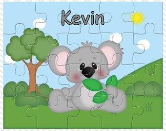 Koala Personalized Puzzle, Personalized Koala Puzzle, Personalized Kids Puzzle