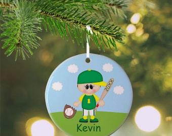 Baseball Ornament - Personalized Baseball Ornament, Sports Ornament, Kids Ornament, Christmas Tree Ornament