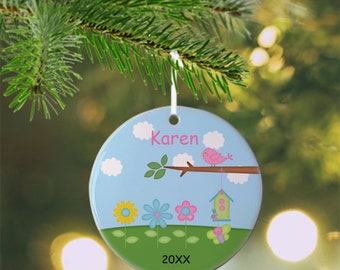 Flowers Ornament - Personalized Flowers Ornament, Flowers Ornament, Kids Ornament, Christmas Tree Ornament