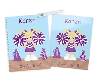 Cheer Folder Notebook Set - Personalized School Folder - Personalized Notebook - Folder with Name - Back to School