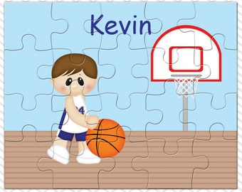 Basketball Boy Personalized Puzzle, Personalized Basketball Puzzle, Personalized Kids Puzzle