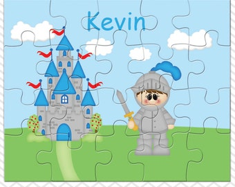 Knight Personalized Puzzle, Personalized Knight Puzzle, Personalized Kids Puzzle