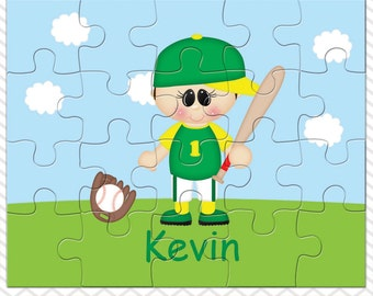 Baseball Boy Personalized Puzzle, Personalized Baseball Puzzle, Personalized Kids Puzzle