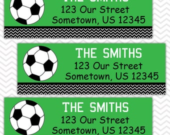 Soccer  - Personalized Address labels, Stickers