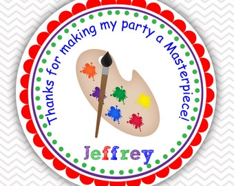 Art Party Favor Tags / Kids Art Party Favor Tags / Art Party Stickers / Kids Art Party Stickers / Art Party Decoration / Art Party Gift Tags