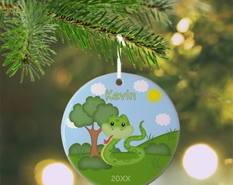 Snake Ornament - Personalized Snake Ornament, Snake Ornament, Kids Ornament, Christmas Tree Ornament