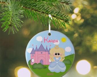 Princess Cinderella Ornament - Personalized Princess Ornament, Princess Ornament, Kids Ornament, Christmas Tree Ornament